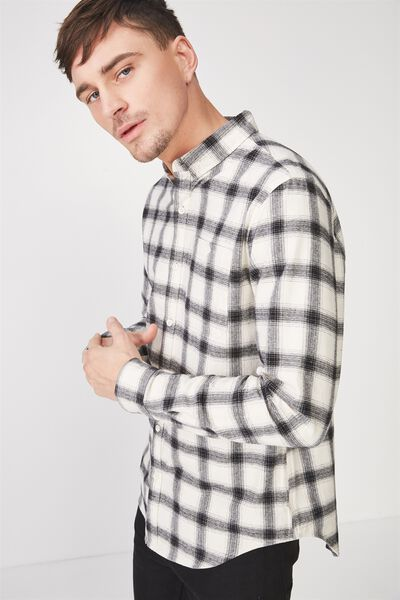 91 Shirt, BLACK CREAM CHECK