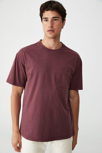 Loose Fit T-Shirt, BURGUNDY