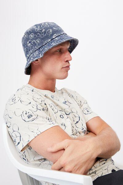 Special Edition Bucket Hat, LCN DIS MICKEY SKETCHES/NAVY