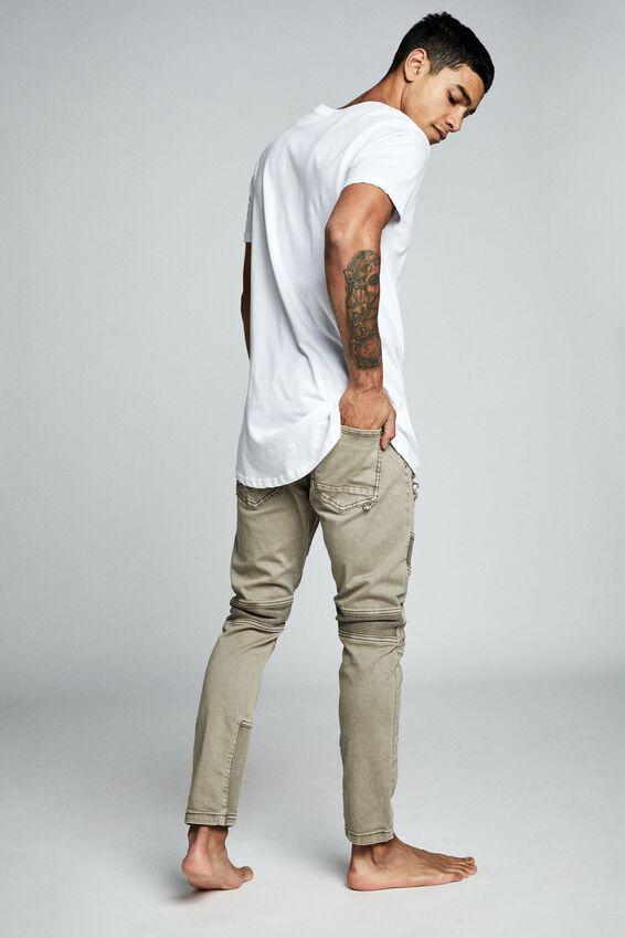 Skinny Tapered Jean, TAN RIBBED