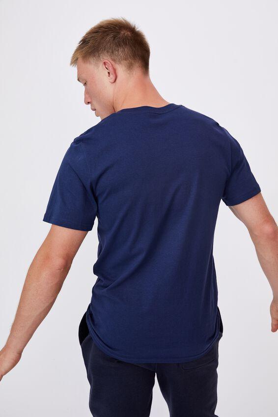 Tbar Text T-Shirt, INDIGO/COLLECTION ONE