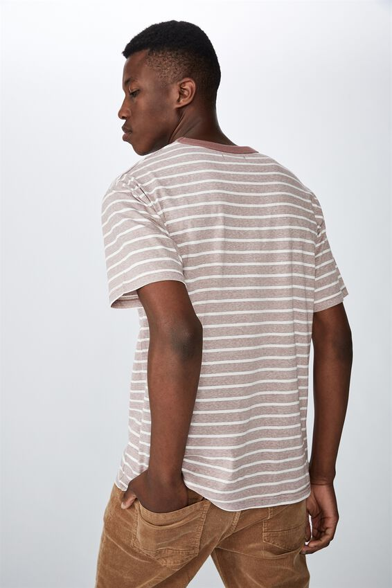 Graduate Tee, WIDE DIRTY BURG STRIPE