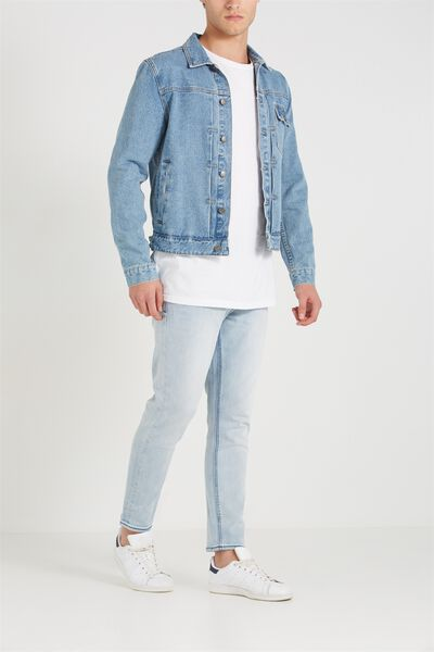Slim Fit Jean, AXEL BLUE CROP
