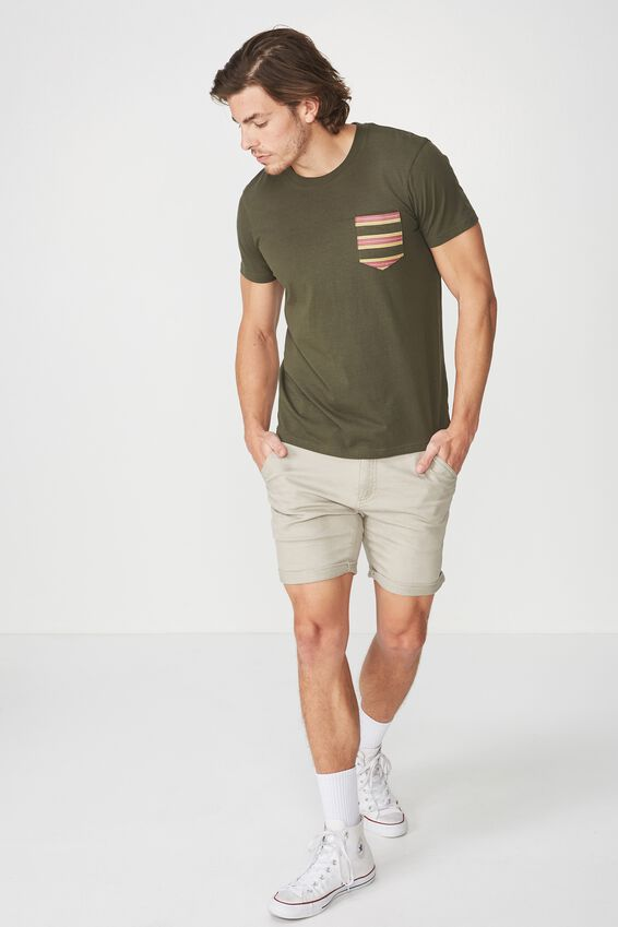 Textured Pocket Tee, FOREST NIGHT/CONTRAST POCKET