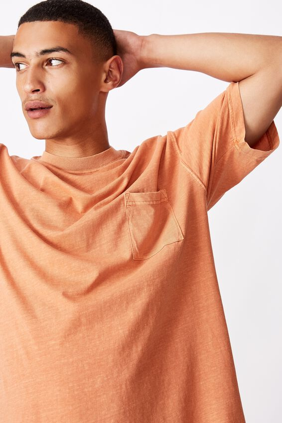 Washed Pocket Tee, DIRTY CLAY