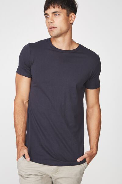 Essential Longline Curved Hem, TRUE NAVY