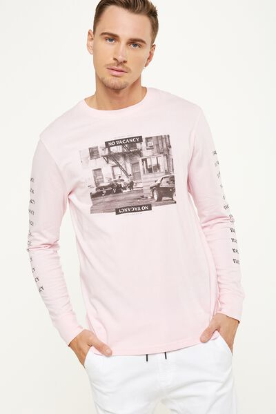 Tbar Long Sleeve, PRIME PINK/NO VACANCY