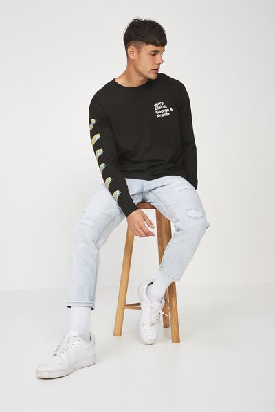 Tbar Collaboration Ls Tee, LC BLACK/SEINFELD - CAST