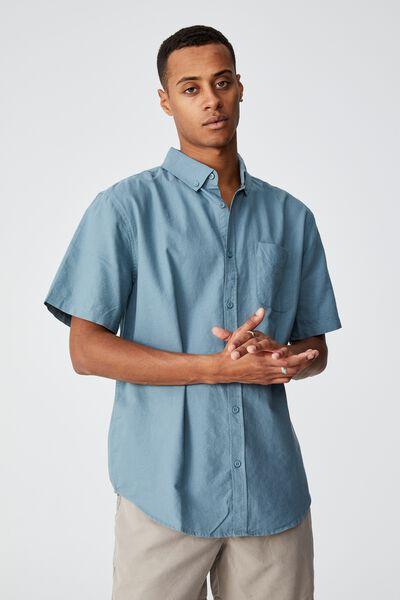 Vintage Prep Short Sleeve Shirt, MINERAL BLUE