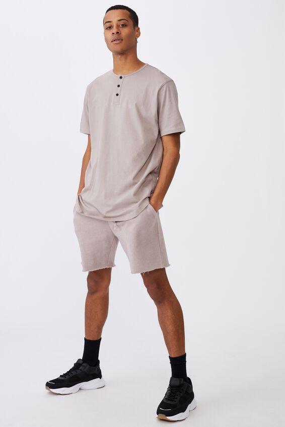Longline Scoop Henley T-Shirt, DUSK