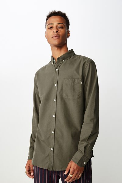 Brunswick Shirt 3, DARK KHAKI