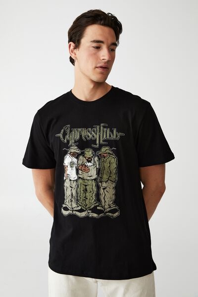 Tbar Collab Music T-Shirt, LCN PRO BLACK/CYPRESS HILL - HUSTLE