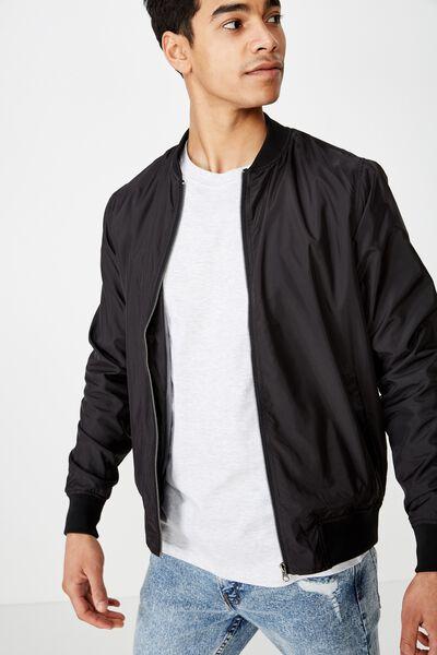 Resort Bomber Jacket, BLACK