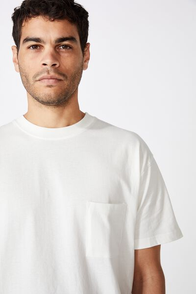 Washed Pocket Tee, VINTAGE WHITE