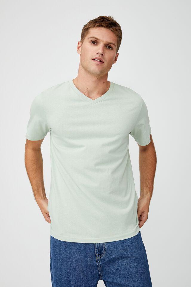 Essential Vee Neck T-Shirt, PISTACHIO