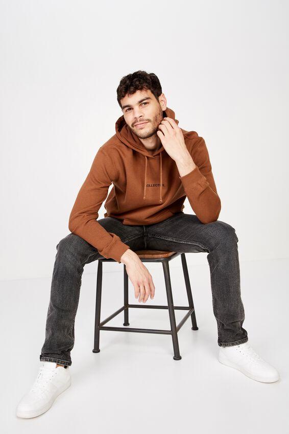 Fleece Pullover 2, DASCHUND BROWN/COLLECTIVE