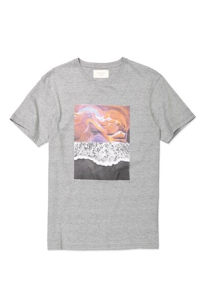 Tbar Tee, GREY MARLE/ROCK WAVE SPLIT