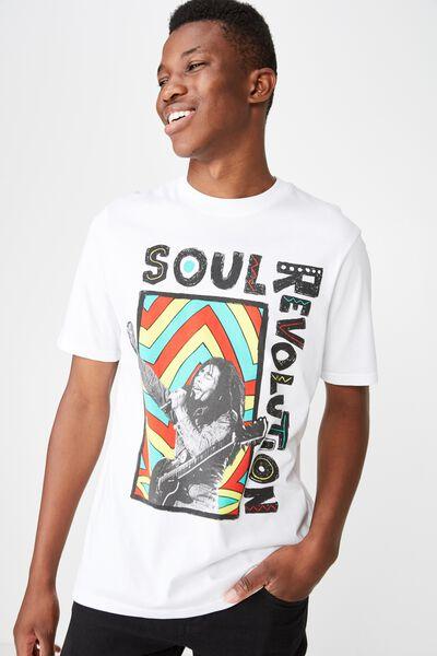 Tbar Collab Music T-Shirt, LC SK8 WHITE/BOB MARLEY - SOUL REVOLUTION