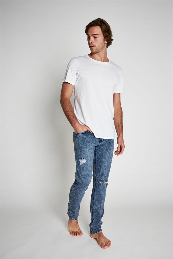 Slim Fit Jean, GRUNGE BLUE   RIPS