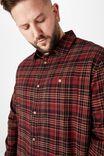 Bg Rugged Long Sleeve Shirt, BURNT ORANGE CHECK