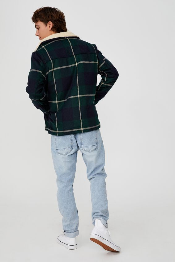 Ranch Jacket, GREEN NAVY CHECK