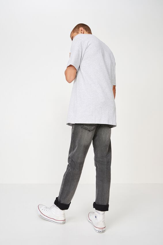 Essential Skate Tee, LIGHT GREY MARLE