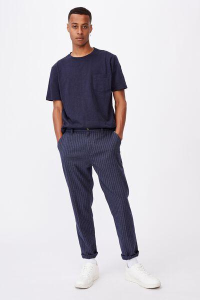 Oxford Trouser, PINSTRIPE NAVY