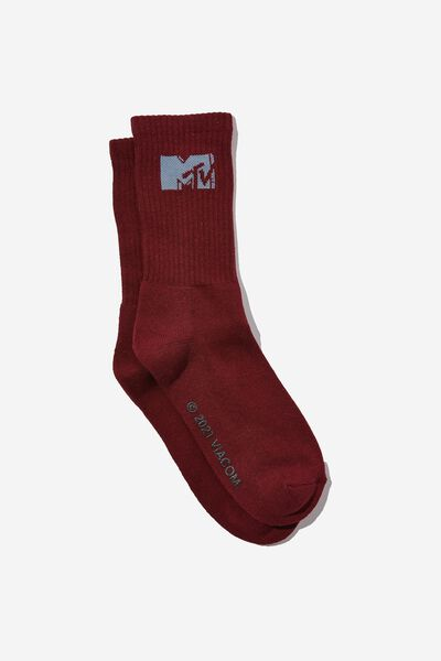 Special Edition Active Sock, LCN MTV BURG/LOGO