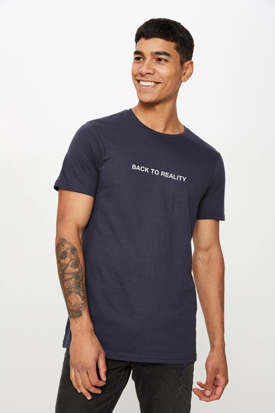 Personalised Crew Tee, TRUE NAVY