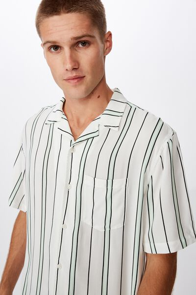Festival Shirt, WHITE MINT POP STRIPE