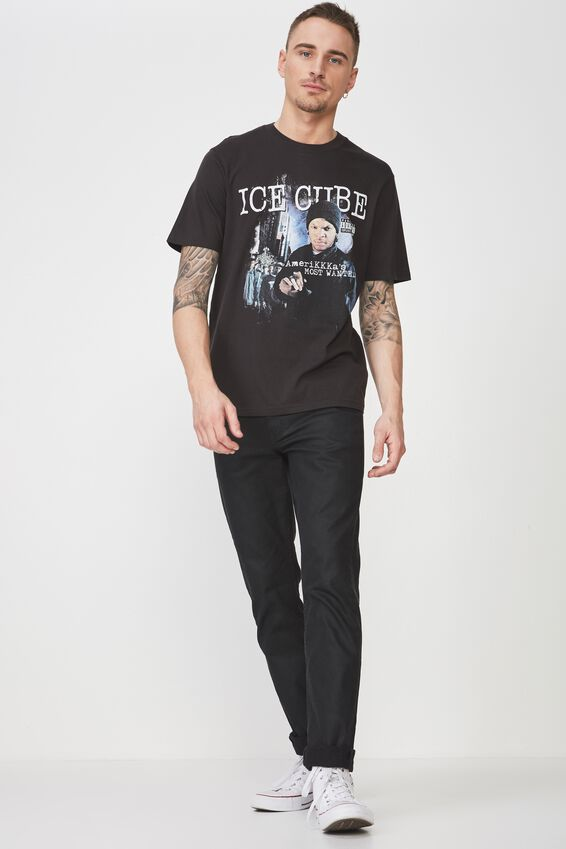 Tbar Collaboration Tee, LC WASHED BLACK/ICE CUBE-WANTED