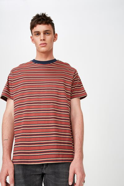 Dylan Tee, RED/NAVY/CREAM STRIPE