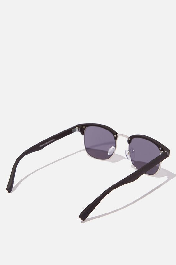 Leopold Sunglasses, BLACK SILVER SMOKE