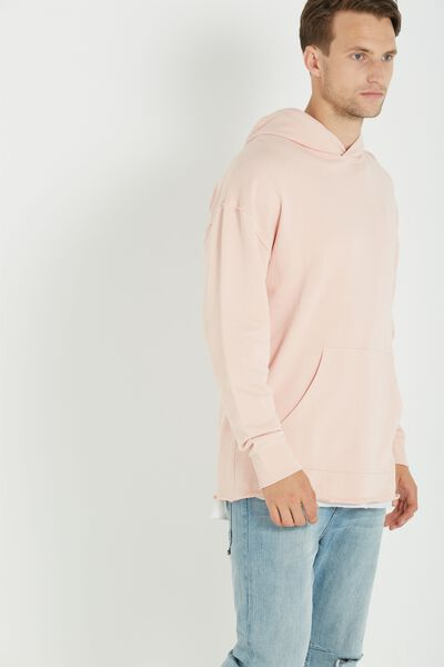 Raw Pullover Fleece, PALE PINK