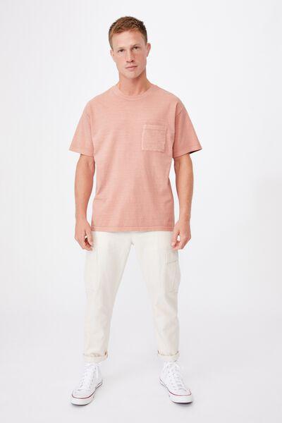 Washed Pocket T-Shirt, PEACH