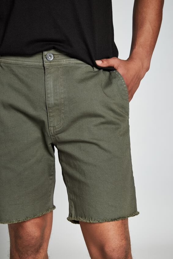 Raw Hem Chino, WASHED KHAKI