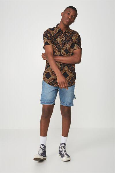 91 Short Sleeve Shirt, ORNAMENT PAISLEY PRINT