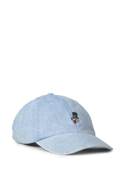 Strap Back Dad Hat, WOLF/LIGHT DENIM
