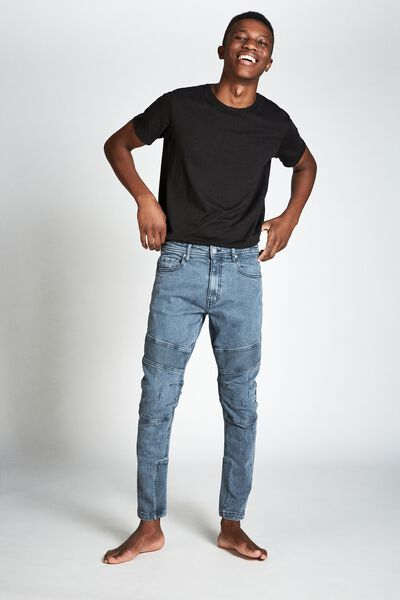 Skinny Tapered Jean, RIBBED BLUE HAZE