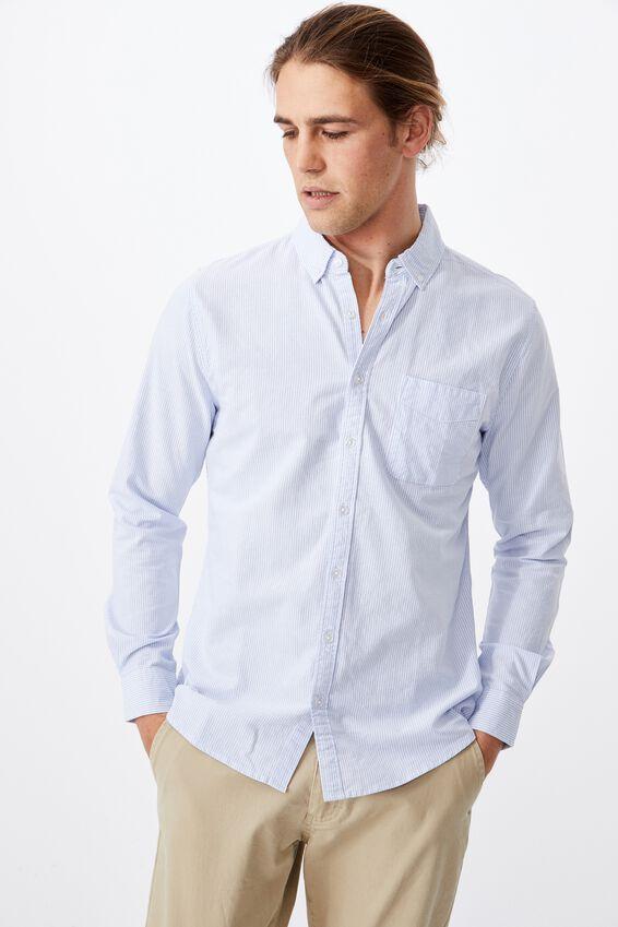 Brunswick Shirt 3, SKY WHITE STRIPE