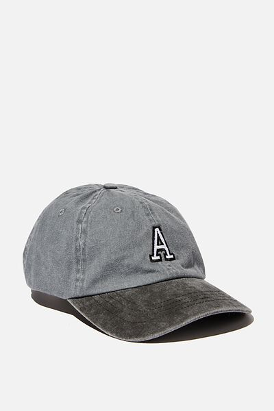 Initials Dad Hat Personalised, TT WASHED BLACK