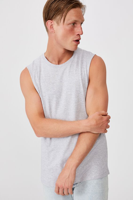 Essential Muscle, LIGHT GREY MARLE
