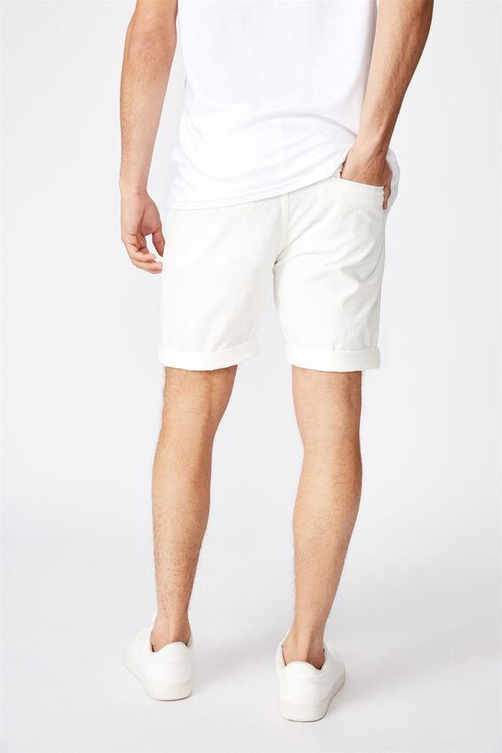 Washed Chino Short, WHITE