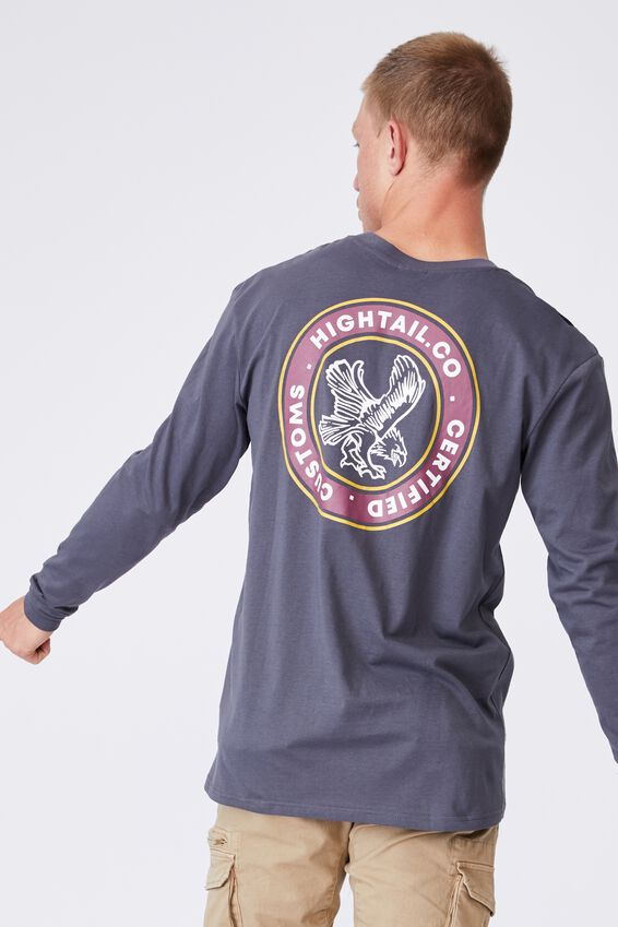 Tbar Long Sleeve T-Shirt, LATE NIGHT BLUE/HIGHTAIL CO
