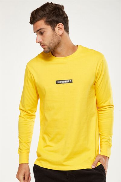 Tbar Long Sleeve, SAFETY YELLOW/UNTITLED NO 7