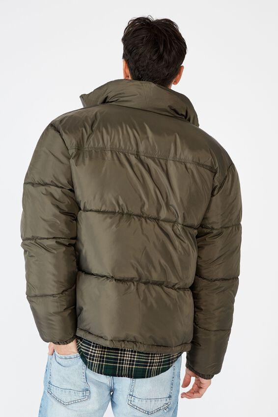 Recycled Puffer Jacket, KHAKI