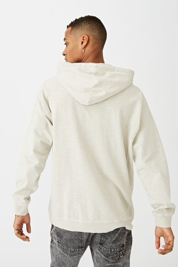 Pigment Dyed Oversized Pullover, ECRU
