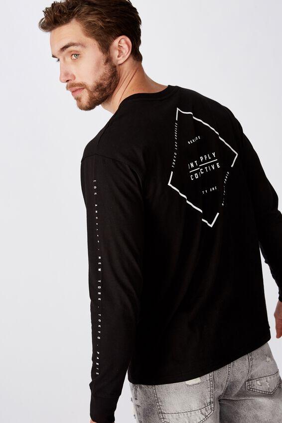 Tbar Long Sleeve, BLACK/INT.SUPPLY
