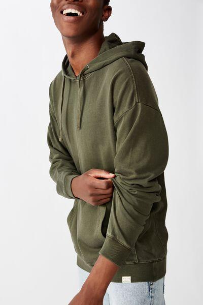 Pigment Dyed Oversized Pullover, WASHED KHAKI