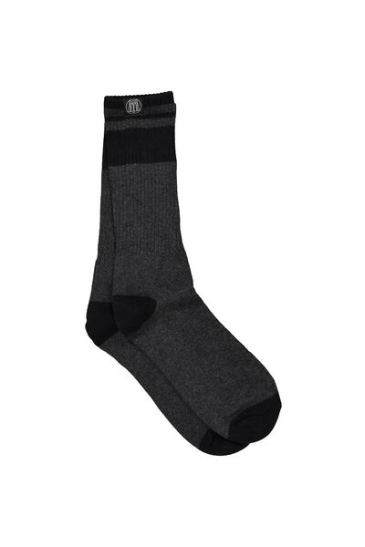 Bball Long Socks, CHARCOAL/BLACK